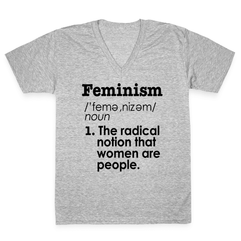 Feminism Definition V-Neck Tee Shirt