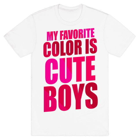 My Favorite Color Is Cute Boys Mens T-Shirt