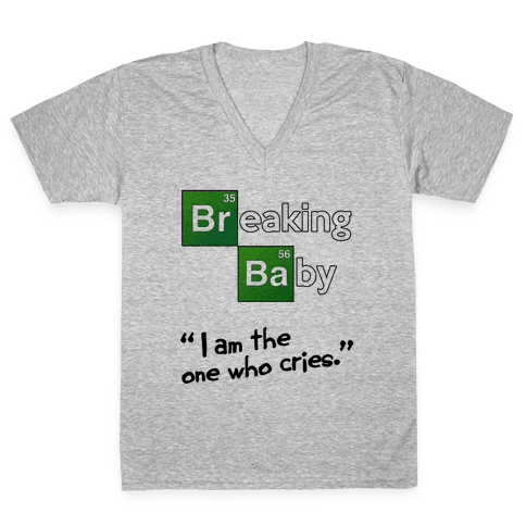 Breaking Baby V-Neck Tee Shirt