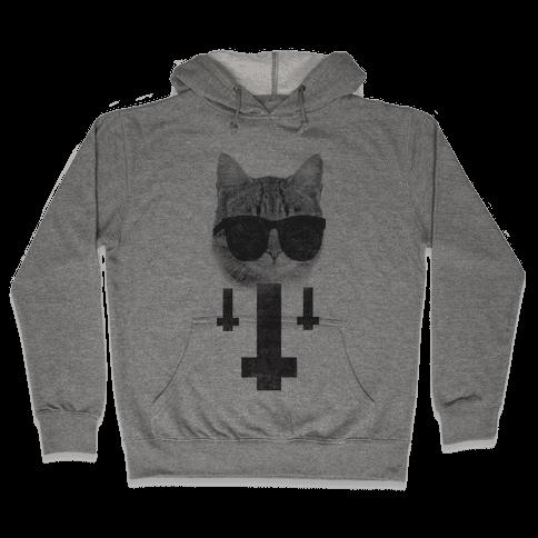 Satan Cat Hooded Sweatshirt