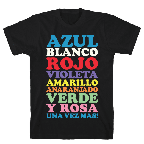 Spanish Color Song Mens T-Shirt