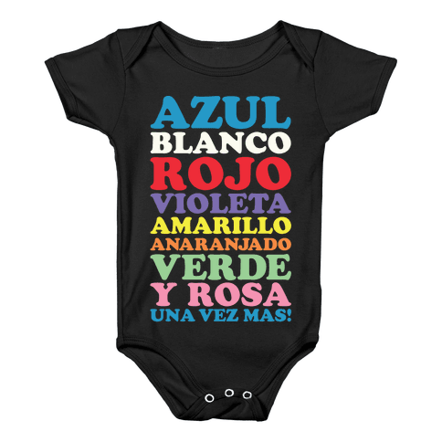 Spanish Color Song Baby Onesy