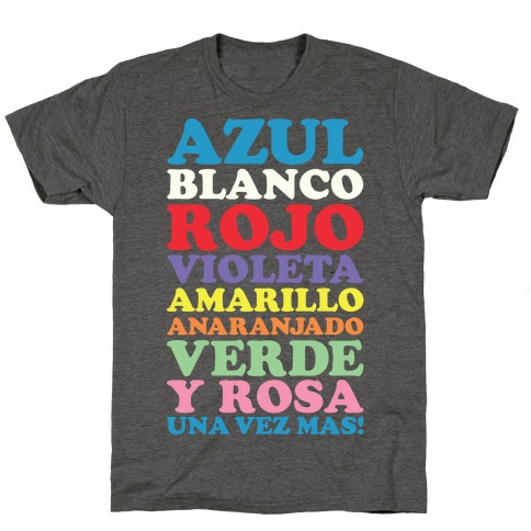 Spanish Color Song T-Shirt