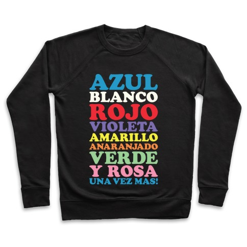 Spanish Color Song Pullover