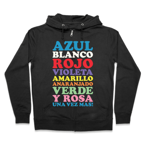 Spanish Color Song Zip Hoodie