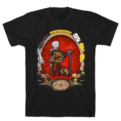 Black Lodge Racoon T-Shirt
