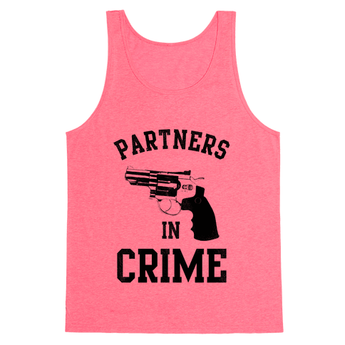 Partners in Crime! (Neon Yellow Left) Tank Top