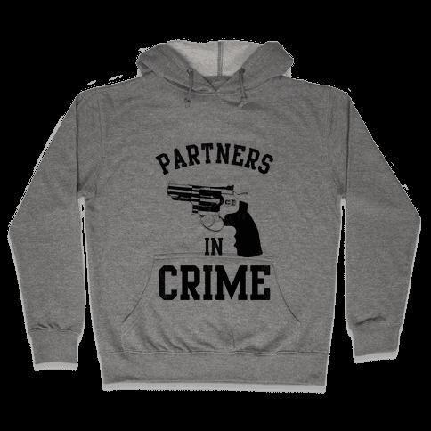 Partners in Crime! (Neon Yellow Left) Hooded Sweatshirt