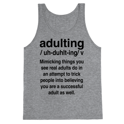 Adulting Definition Tank Top