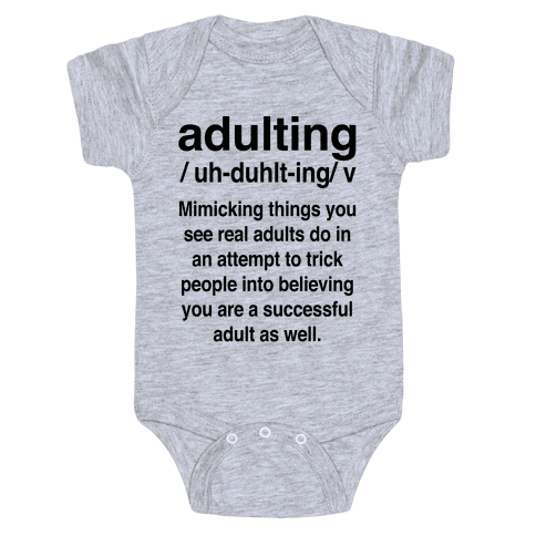 Adulting Definition Baby Onesy