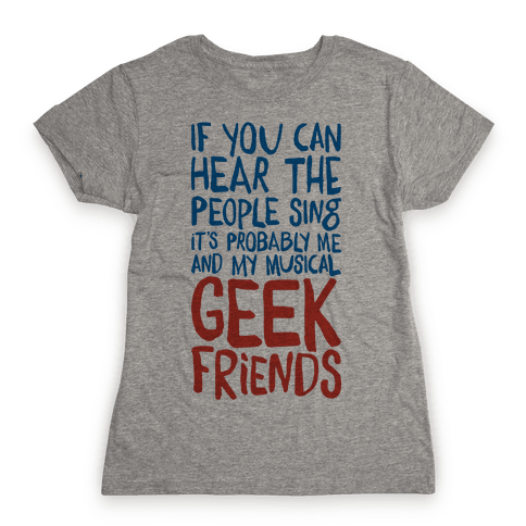 Musical Geeks Womens T-Shirt