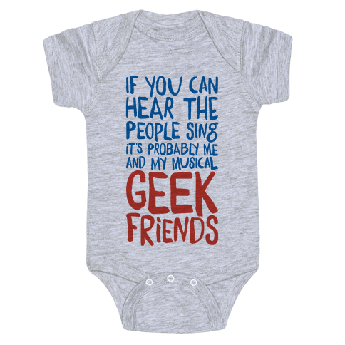 Musical Geeks Baby Onesy