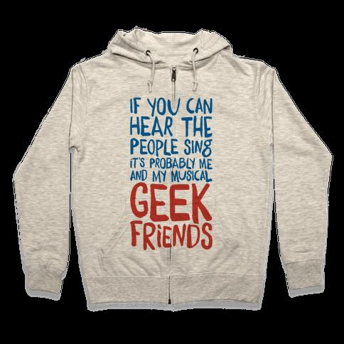 Musical Geeks Zip Hoodie