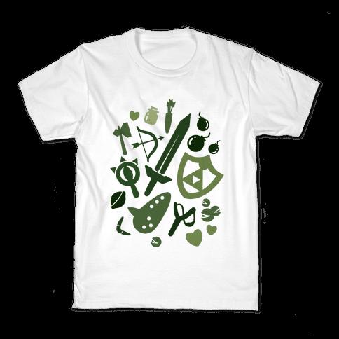 Link's Inventory Kids T-Shirt
