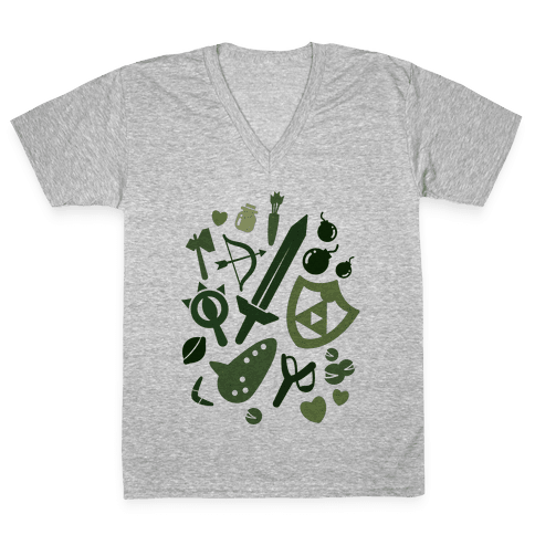 Link's Inventory V-Neck Tee Shirt