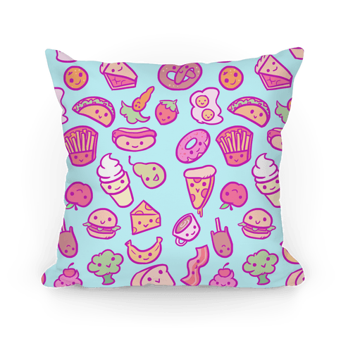 Cute Foods Throw Pillow LookHUMAN