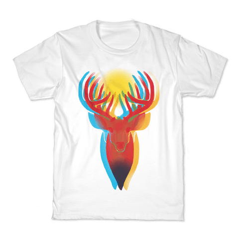 Pop Art Deer Head Kids T-Shirt