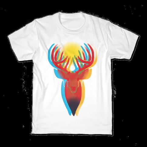 Pop Art Deer Head Kids T-Shirt