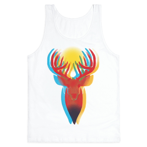 Pop Art Deer Head Tank Top