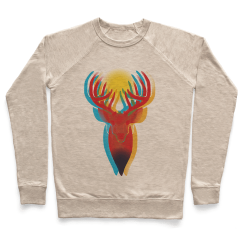 Pop Art Deer Head Pullover