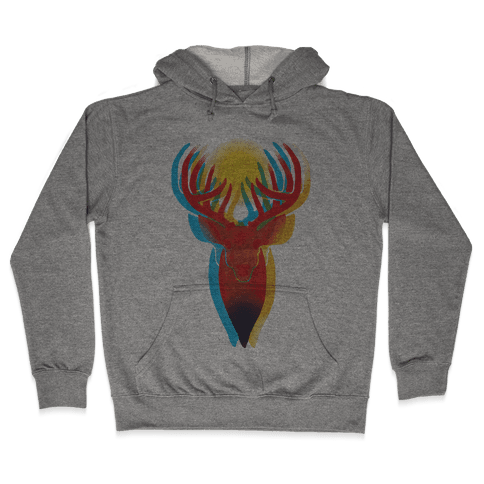Pop Art Deer Head Hooded Sweatshirt