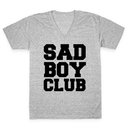 Sad Boy Club V-Neck Tee Shirt