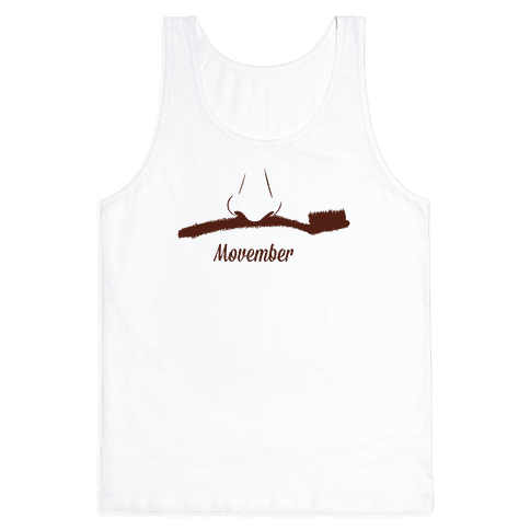 Toothbrush Mustache Tank Top