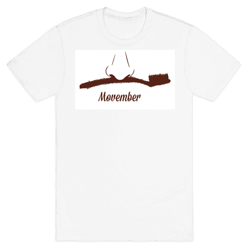 Toothbrush Mustache Mens T-Shirt