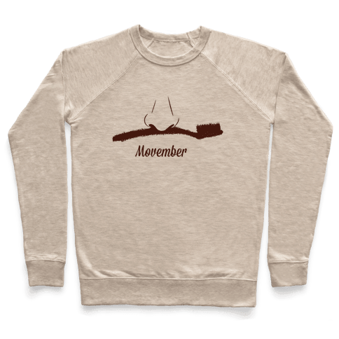 Toothbrush Mustache Pullover