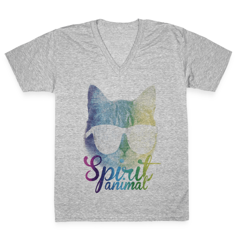 Spirit Animal V-Neck Tee Shirt