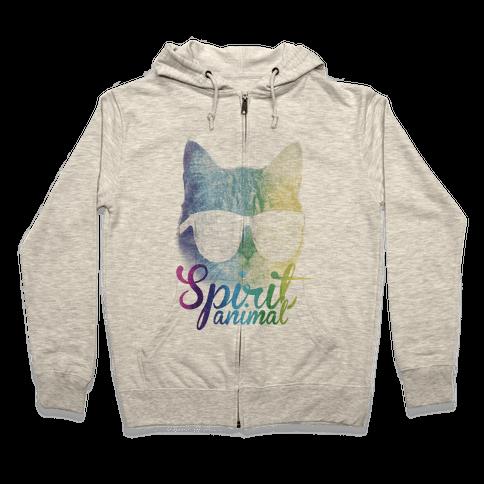 Spirit Animal Zip Hoodie