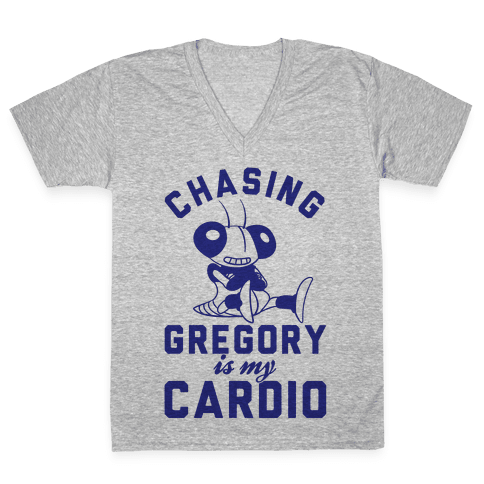 Chasing Gregory Is My Cardio V-Neck Tee Shirt