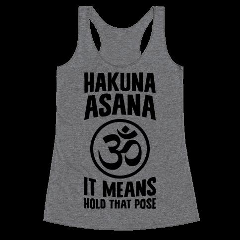 Hakuna Asana Racerback Tank Top