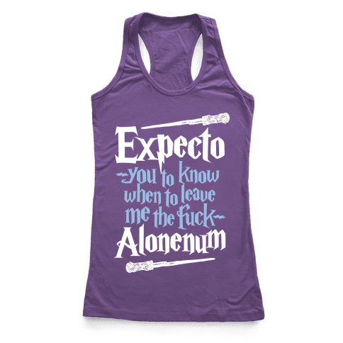 Expecto Alonenum Racerback Tank Top