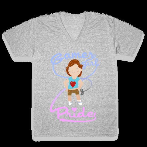 Gamer Girl Pride V-Neck Tee Shirt