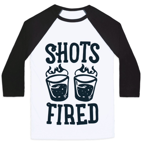 Shots Fired Baseball Tee