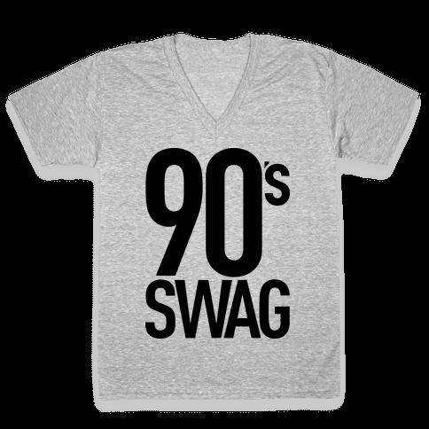 90's Swag V-Neck Tee Shirt