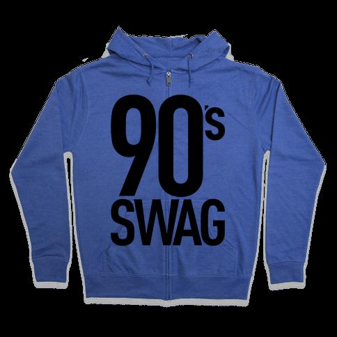 90's Swag Zip Hoodie