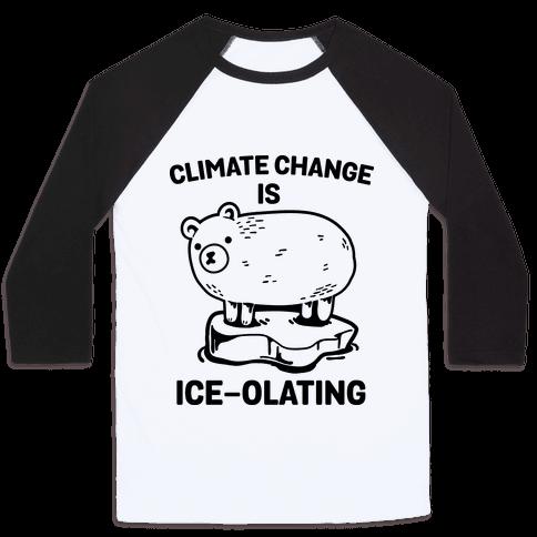 Climate Change Is Ice-olating Baseball Tee