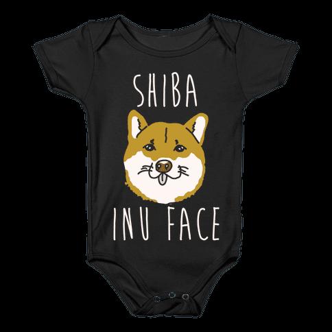 Shiba Inu Face Baby Onesy