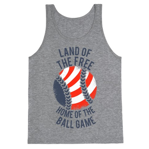 Land of the Free Home of the Ball Game (Vintage) Tank Top