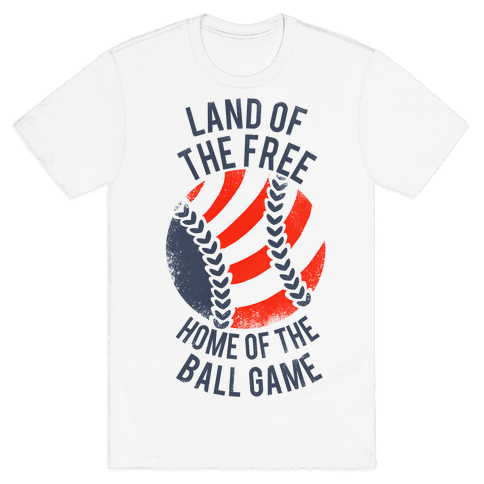 Land of the Free Home of the Ball Game (Vintage) Mens T-Shirt