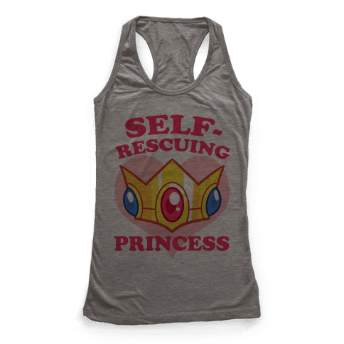 Self-Rescuing Princess Racerback Tank Top