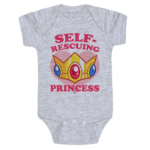 Self-Rescuing Princess Baby Onesy