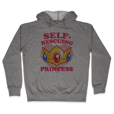 Self-Rescuing Princess Hooded Sweatshirt