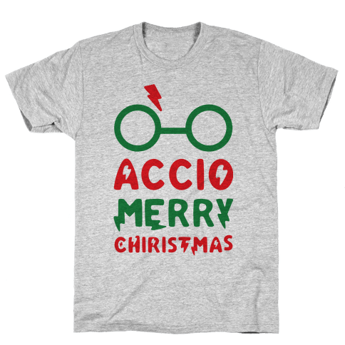 Accio Merry Christmas Mens T-Shirt