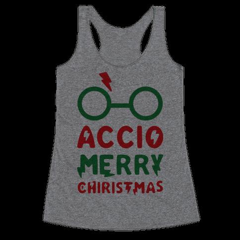 Accio Merry Christmas Racerback Tank Top