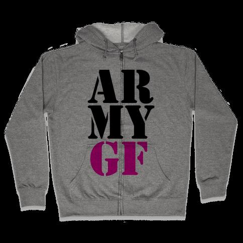 Army GF Zip Hoodie