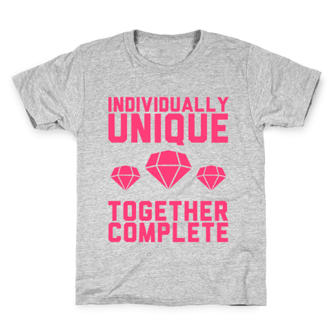 Individually Unique Together Complete Kids T-Shirt
