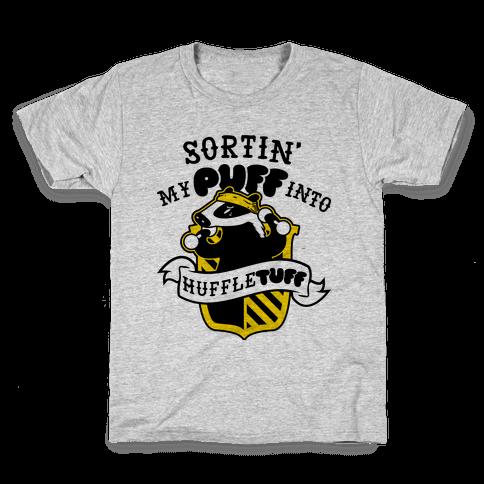 Sorting My Puff Into Huffletuff Kids T-Shirt